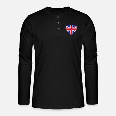 Uk Underwear Heart Britain - Henley long-sleeved shirt