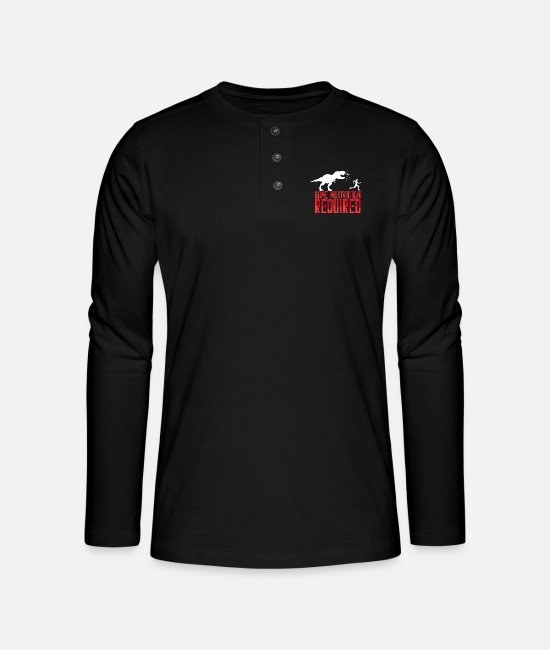Runner Long-Sleeved Shirts - Some Motivation Required Joggen Jogger Fitness Gym - Henley long-sleeved shirt black