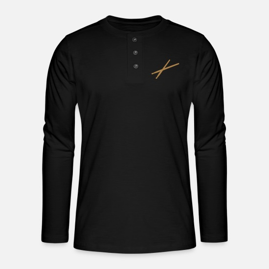 Sticks Long sleeve shirts - Drum sticks - Henley long-sleeved shirt black