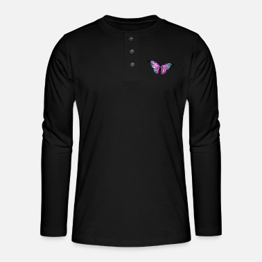 Chrome Butterfly chrome - Henley long-sleeved shirt
