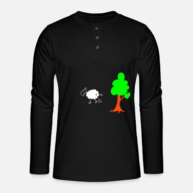 Schwarzes Schaf Schwarzes Schaf Pisser / Sheep in wolf's clothing - Henley long-sleeved shirt