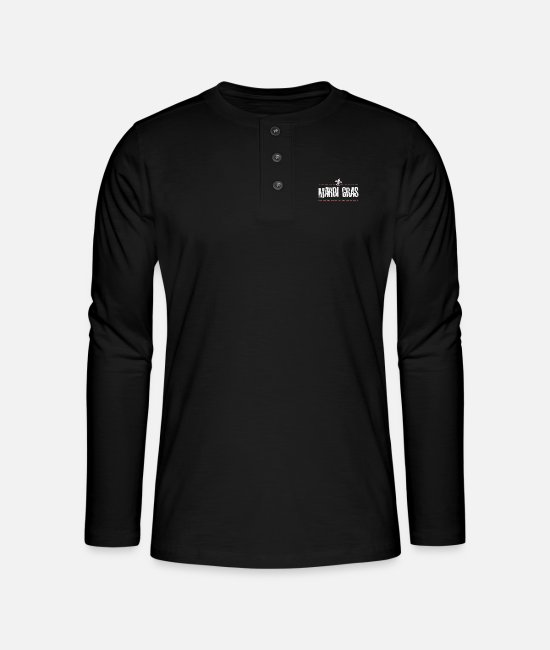 Shrovetide Long sleeve shirts - mardi gras carnival shrove tuesday festival - Henley long-sleeved shirt black