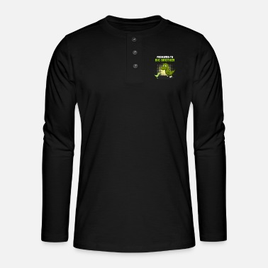 Brotherasurus Siblings brother Brothersaurus I gift - Henley long-sleeved shirt