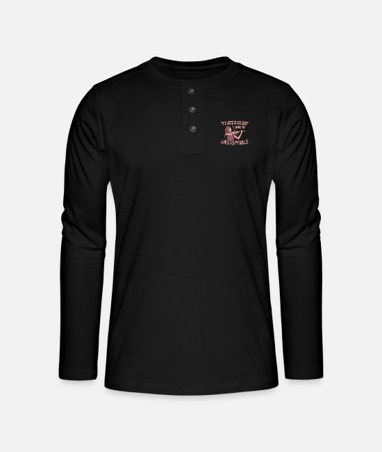 Guitar Long-Sleeved Shirts - Jesus In Heart Violin In Hand - Henley long-sleeved shirt black