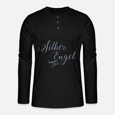 Silver Silver angel in silver metallic - Henley long-sleeved shirt