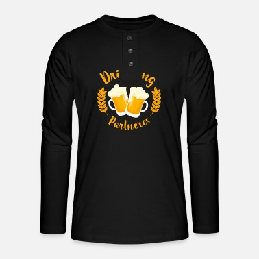 Wedding Contest Bachelor party, men's group, wedding contest - Henley long-sleeved shirt