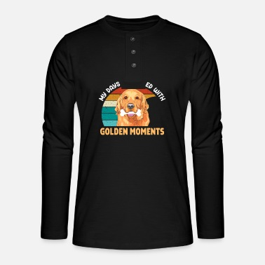 Love Is Love Dog Golden Retriever Life filled Golden Moments - Henley Langarmshirt
