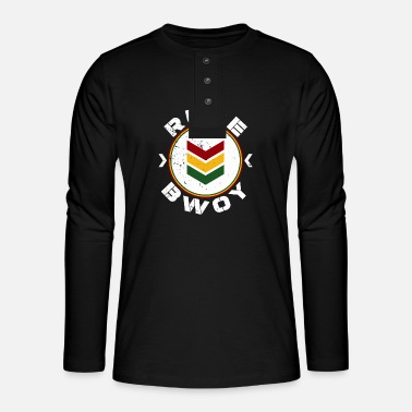 Rude Gal Rude Bwoy - Henley long-sleeved shirt