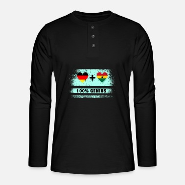 Kumasi Germany and Ghana 100% brilliant / gift - Henley long-sleeved shirt