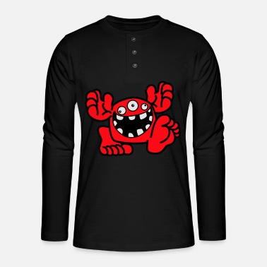 Proud To Be A Monster Cartoon by Cheerful Madness! - Henley long-sleeved shirt