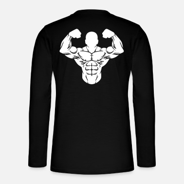 Exercise Bodybuilder Strong Man Toning Muscle Sport - Henley long-sleeved shirt