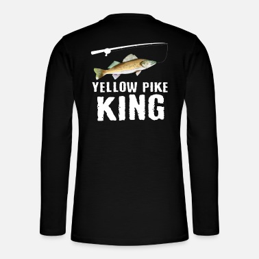 Funny Yellow Pike Fishing Freshwater Fish Lake - Henley long-sleeved shirt