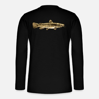 Trout Funny Flathead Catfish Fishing Freshwater Fish - Henley long-sleeved shirt
