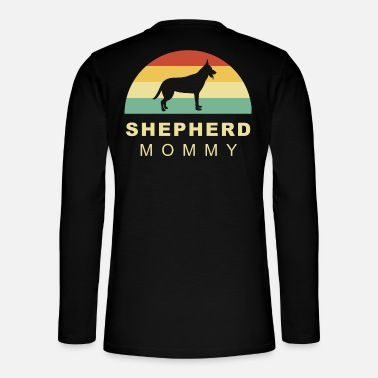 Long-haired Long-haired Herd Dog Cool retro vintage german shepherd dog mom - Henley long-sleeved shirt