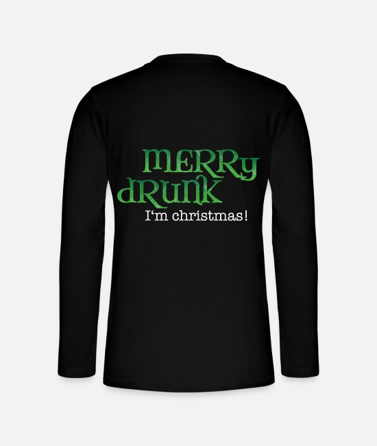 Mulled Wine Long sleeve shirts - Celebrating Christmas gift drunk beer funny - Henley long-sleeved shirt black