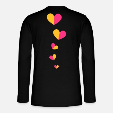 Funky 5 half hearts in a line down funky! - Henley long-sleeved shirt