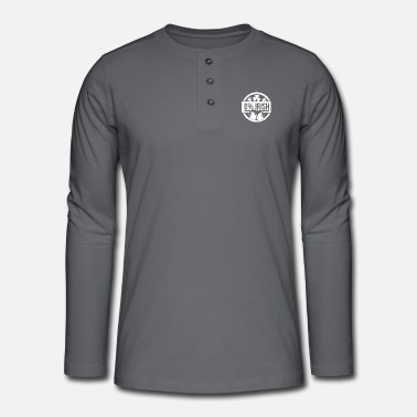 0 percent iris - Henley long-sleeved shirt