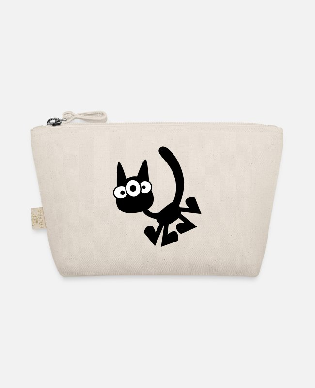 Design Bags & Backpacks - Three-Eyed Cartoon Cat Vector Graphic by Cheerful - The Wee Pouch nature