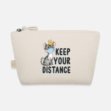 Cat Keep Your Distance keep your distance cat with crown - The Wee Pouch