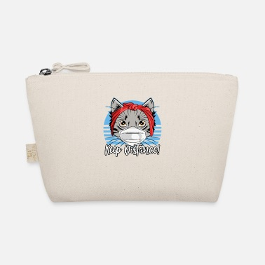 Cat Keep Your Distance Please keep your distance cat with face mask - The Wee Pouch