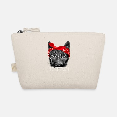 Cat Keep Your Distance Keep distance ! Cat cat with face mask - The Wee Pouch