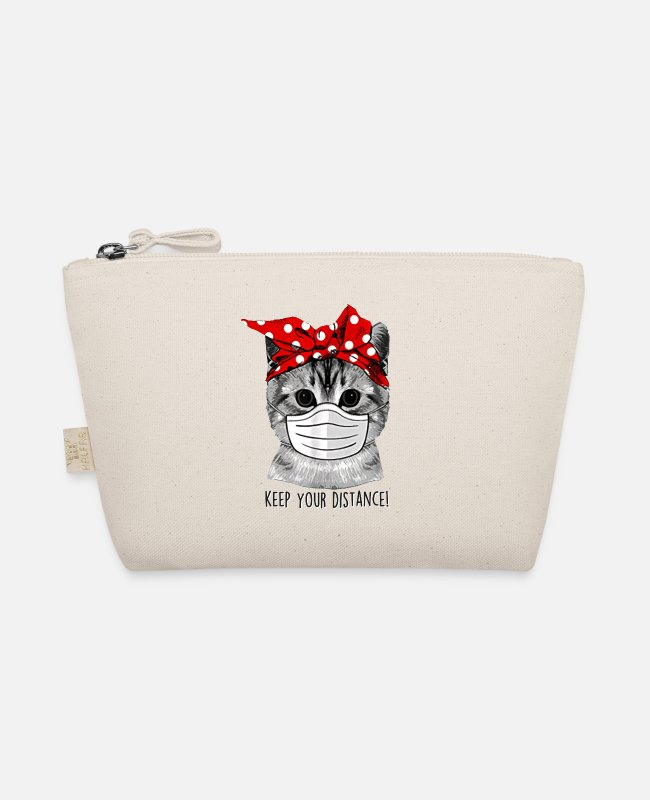Cat Keep Your Distance Bags & Backpacks - keep distance - The Wee Pouch nature