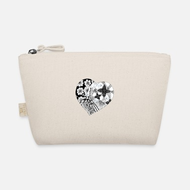 Heart heart black white - The Wee Pouch