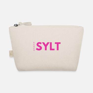 Longitude Sylt lettering with coordinates - The Wee Pouch