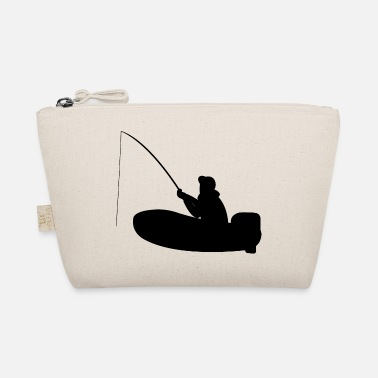 Motor Boat Fisherman on motor boat with fishing rod - The Wee Pouch