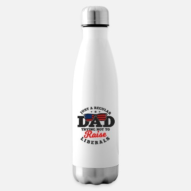 Try Try Try regular dad trying not to raise liberals - Insulated Water Bottle