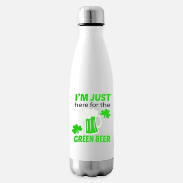 Green Beer Here for green beer - Insulated Water Bottle