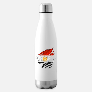 Country Flag Football Sport And Arab Art Jesus egypt egyptian egyption - Insulated Water Bottle
