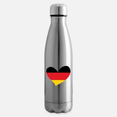 Flag Of Germany Germany, German Flag Heart, I Love Germany - Insulated Water Bottle