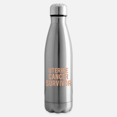 Uterine Cancer Awareness Uterine cancer: Uterine cancer survivor - Insulated Water Bottle