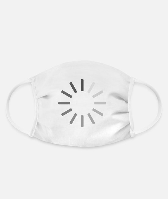 Video Buffer Face Masks - Buffering icon - Face Mask white