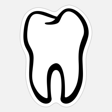 Pull The Root Tooth / Zahn / Dent / Diente / Dente / Tand - Sticker