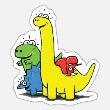 Dino Gang, Colored - Sticker