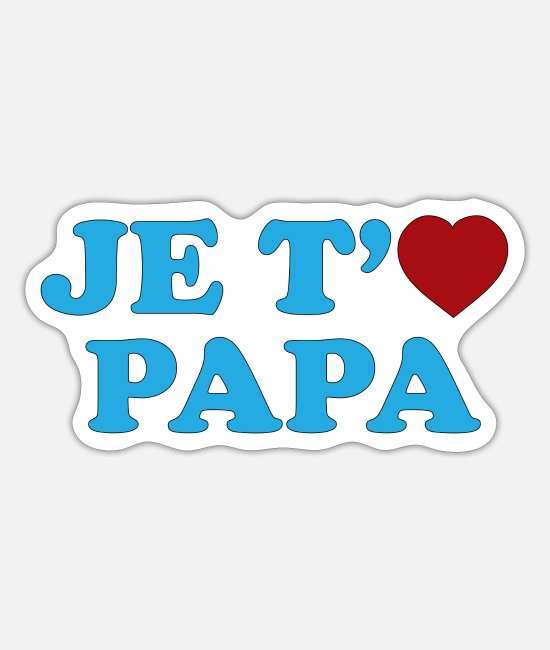 Pappus Stickers - I love you Dad - Sticker white mat