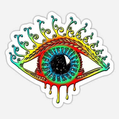 Smile God Magic Sun Eye - Symbol Protection & Mental Strength - Sticker