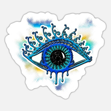 Smile God Magic Eye - bearer of light, symbol of clarity - Sticker