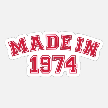 Mad Made in 1974 - Sticker