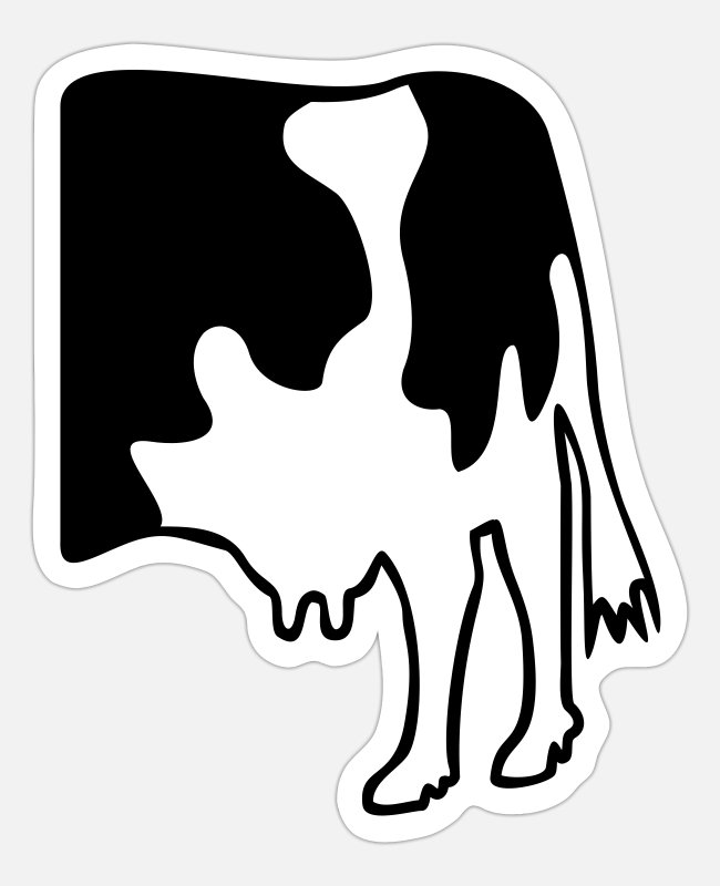 Rump Stickers - COW without MUH - Sticker white mat