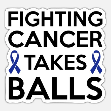 Cancer Fighting cancer takes balls - Sticker