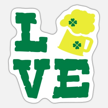 Green Beer LOVE GREEN BEER - Sticker
