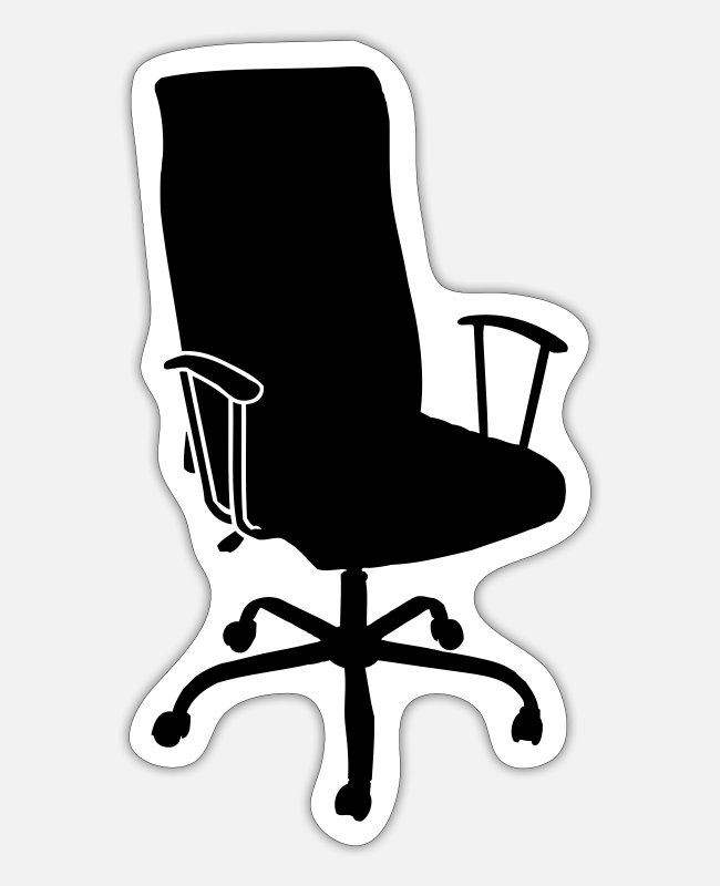 Office Stickers - Office Chair - Sticker white mat