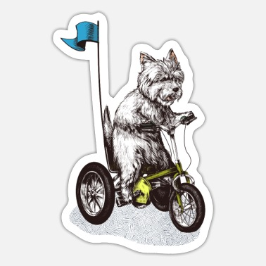 Highland West Highland Terrier Tricycle - Sticker