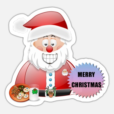 Job Underwear Santa 16 Merry Christmas - Sticker