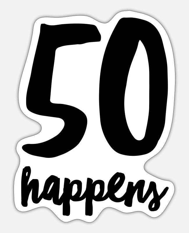 Candle Stickers - 50 Happens - Sticker white mat