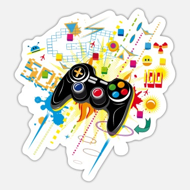 Coole Gamepad Videogames - Sticker