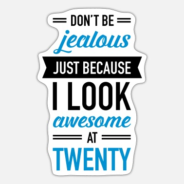 Twenty Awesome At Twenty - Sticker
